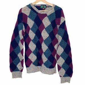 Colours by Alexander Julian Knit Sweater Retro Vin